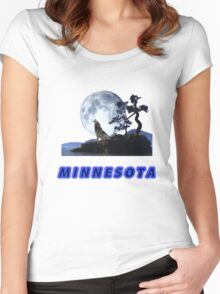 Minnesota Collector T-Shirt and Stickers Women's Fitted Scoop T-Shirt
