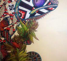 Zentangle Chameleon  by Jack Rinderknecht