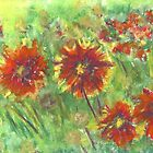 Hippie Flowers (pastel) by Niki Hilsabeck