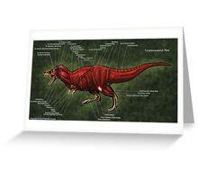 Tyrannosaurus Rex Muscle Study Greeting Card