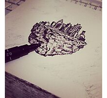 Drawing floating city Photographic Print