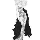 Fashion Illustration 'Lace' Fashion Art by Alex Newton