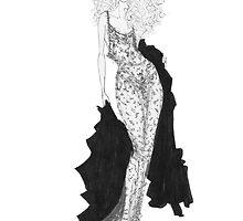 Fashion Illustration 'Lace' Fashion Art by Alex Newton