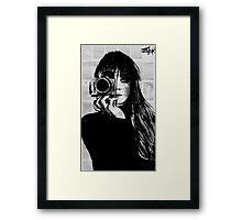 lens Framed Print