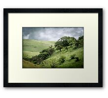 The Green, Green Hills of Home Framed Print