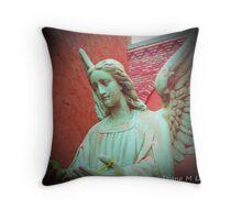 Padre Pio's Angel Throw Pillow