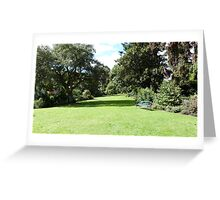 A Bench to rest on! Botanic Gardens, Geelong. Victoria. Greeting Card