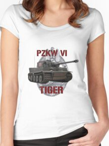PZKW VI Tiger Women's Fitted Scoop T-Shirt