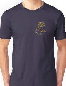 """""""Horselover""""- golden edit Unisex T-Shirt"""