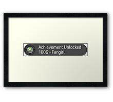 Fangirl Achievement Framed Print