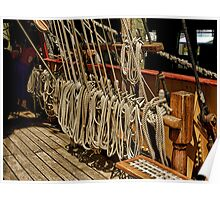 The Barque Europa........which rope shall I pull to make it go faster ?  Poster