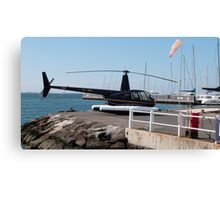 Helicopter for Joy Flights, Geelong Waterfront. Victoria. Aust. Canvas Print
