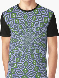 Eternity Repeating Pattern in Sap Green and Lilac Graphic T-Shirt