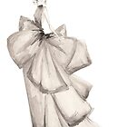 Fashion Illustration 'Silk Bows' Fashion Art by Alex Newton