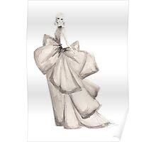 Fashion Illustration 'Silk Bows' Fashion Art Poster