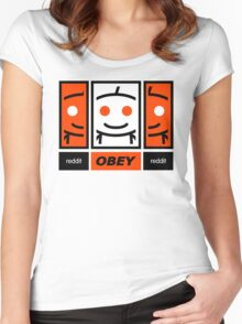 Reddit Dis-obey Women's Fitted Scoop T-Shirt