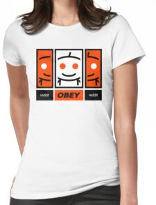Reddit Dis-obey Womens Fitted T-Shirt