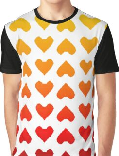 Cascading Hearts Graphic T-Shirt
