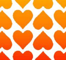 Cascading Hearts Sticker