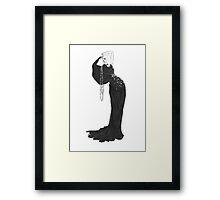 Fashion Illustration 'Velvet Star Dress' Fashion Art Framed Print
