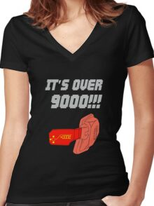 Anime and manga - it's over nine thousand - dark Women's Fitted V-Neck T-Shirt