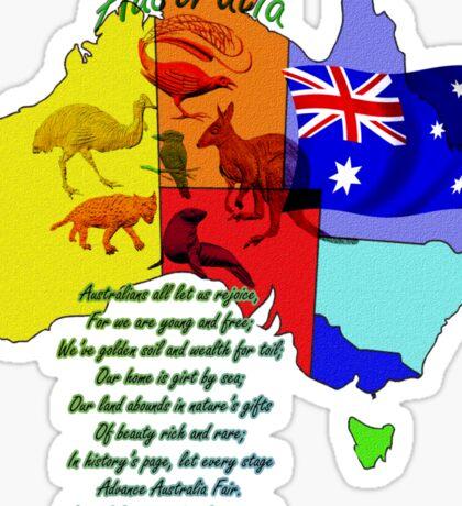 Australian land Sticker