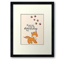 """Looking For Alaska - """"No One Can Catch the Motherfucking Fox"""" John Green Framed Print"""