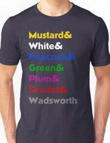 Mrs. Peacock was a MAN?!?! Unisex T-Shirt