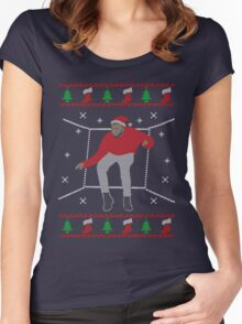 Ugly Sweater Christmas Hotline Bling Dance Women's Fitted Scoop T-Shirt