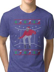 Ugly Sweater Christmas Hotline Bling Dance Tri-blend T-Shirt