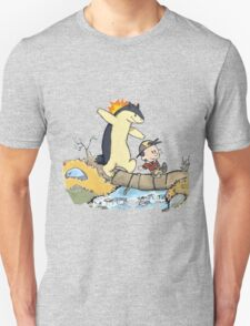 calvin and hobbes meets pokemon Unisex T-Shirt