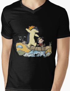 calvin and hobbes meets pokemon Mens V-Neck T-Shirt