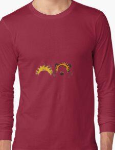 calvin and hobbes head Long Sleeve T-Shirt
