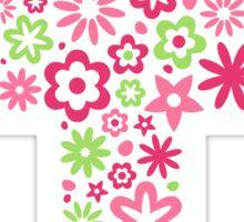 Pink floral flower cross sticker Sticker