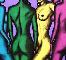 Four Coloured Girls by Laural Retz