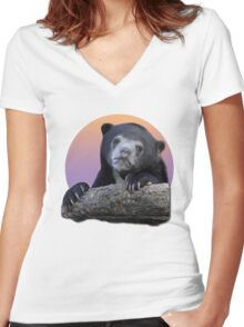 Confession Bear  Women's Fitted V-Neck T-Shirt