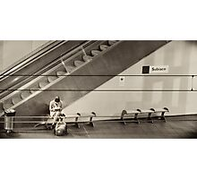 Subiaco Station - waiting Photographic Print