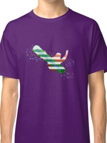 Ski School Dropout (Striped) Classic T-Shirt