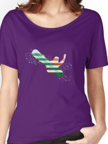 Ski School Dropout (Striped) Women's Relaxed Fit T-Shirt