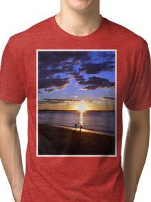 Frisbee Sunset Tri-blend T-Shirt