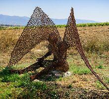 Sculpture, Cantina della Tenuta Castelbuono, Umbria, Italy by Andrew Jones