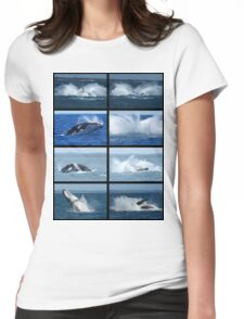 Humpback Whales Breaching 1 Womens Fitted T-Shirt