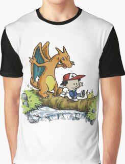 calvin meets charizard Graphic T-Shirt