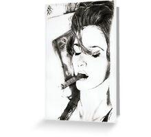 smoking cigar.. pencil Greeting Card