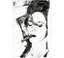 smoking cigar.. pencil Photographic Print