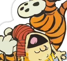calvin and hobbes rotfl Sticker