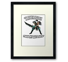 Tryndamere likes to FAP! Framed Print