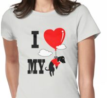 I love my dachshund Womens Fitted T-Shirt