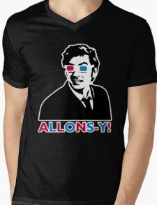 Allons-y! in black Mens V-Neck T-Shirt