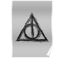 Deathly Hallows (black) Poster
